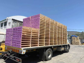 Freight load of pallets