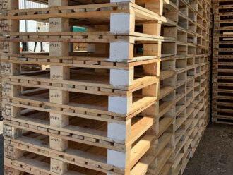 11 Slat White Block Pallets